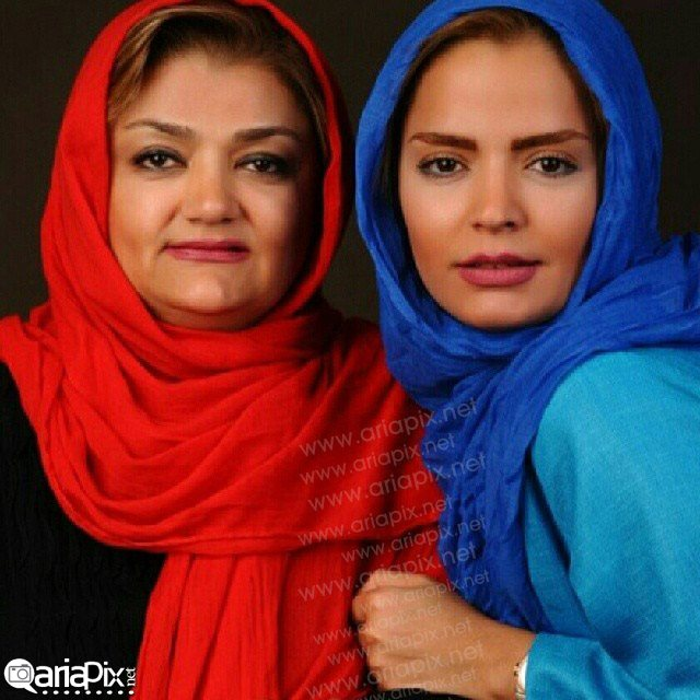 سپیده خداوردی و مادرش / عکس