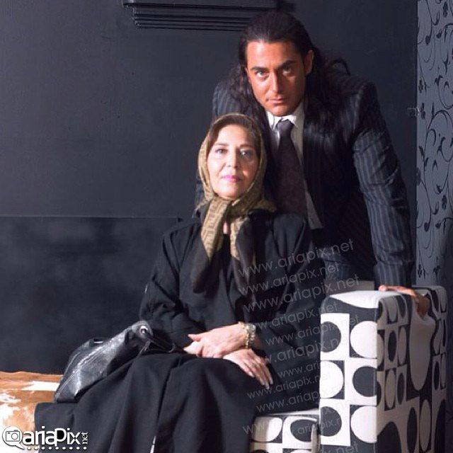 محمدرضا گلزار و مادرش / عکس