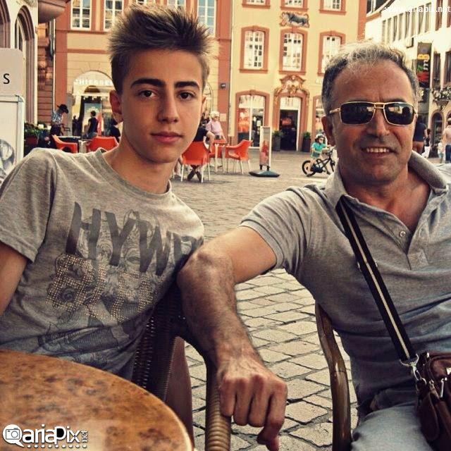 عکس / دانیال حکیمی و پسرش