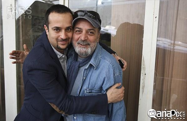عکس یادگاری سیروس مقدم و احمد مهرانفر فروردین 93