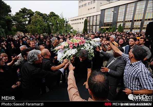 عکس مراسم تشییع جنازه نیما وارسته