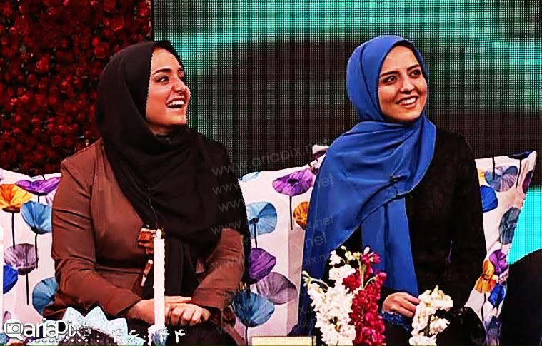 نرگس محمدی و خواهرش در برنامه سال تحویل 93