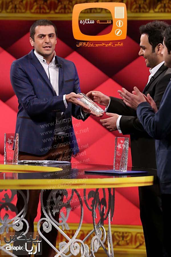 علی ضیا و احسان علیخانی / برنامه سال تحویل شبکه 3 سیما در سال 1393