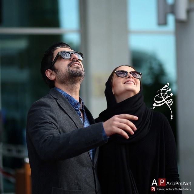 عکس /بهنوش طباطبایی و همسرش مهدی پاکدل / جشنواره فیلم فجر / بهمن 93
