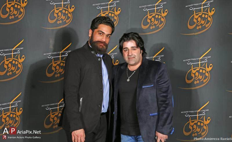 کنسرت علی زندوکیلی با حضور بازیگران و هنرمندان