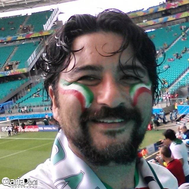عکسهای بازیگران و هنرمندان در بازی ایران بوسنی در برزیل