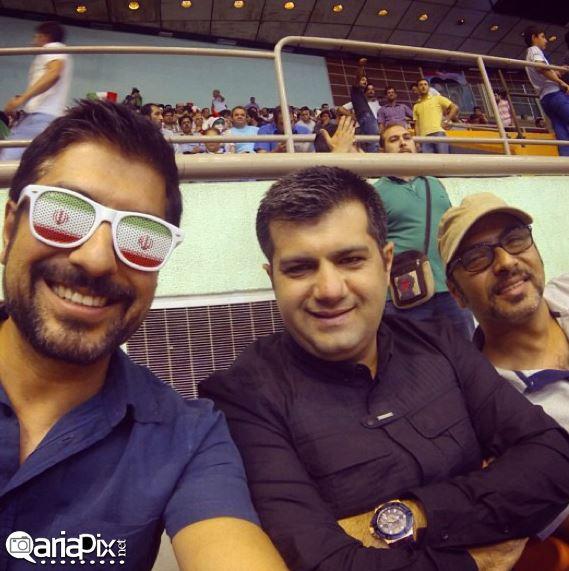 عکسهای بازیگران در تماشای بازی والیبال ایران با لهستان