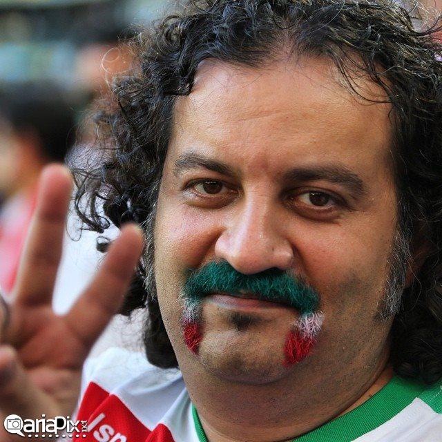 عکسهای بازیگران ایرانی در دیدار ایران با نیجریه در جام جهانی 2014 برزیل