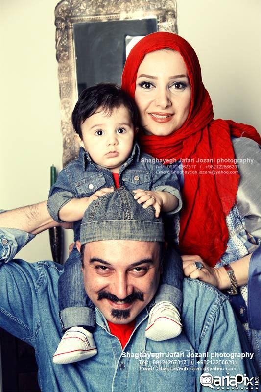 عکس بروز ارجمند و همسرش و پسرش