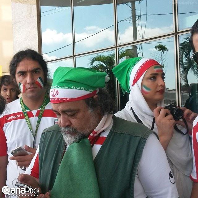 بازیگران در تماشای بازی ایران آرژانتین در برزیل