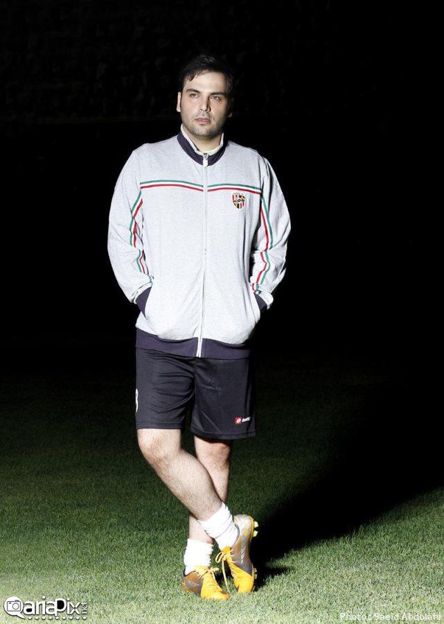 احسان علیخانی, عکس جدید احسان علیخانی با لباس و کرمگن ورزشی در جام ستارگان 93