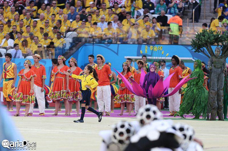 عکسهای افتتاحیه جام جهانی 2014 برزیل