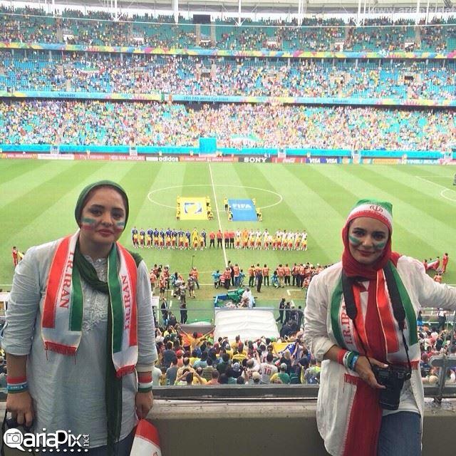 نرگس محمدی و لیندا کیانی بازیگران زن ایرانی در برزیل 2014