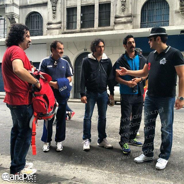عکسهای هنرمندان و بازیگران در برزیل برای تشویق تیم ملی