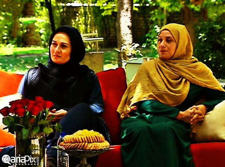 پریوش نظریه و شبنم مقدمی بازیگران زن - برنامه روز دلگشا - عید فطر 93 - عکس