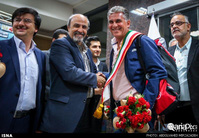 عکسهای بازگشت تیم ملی فوتبال از جام جهانی به ایران