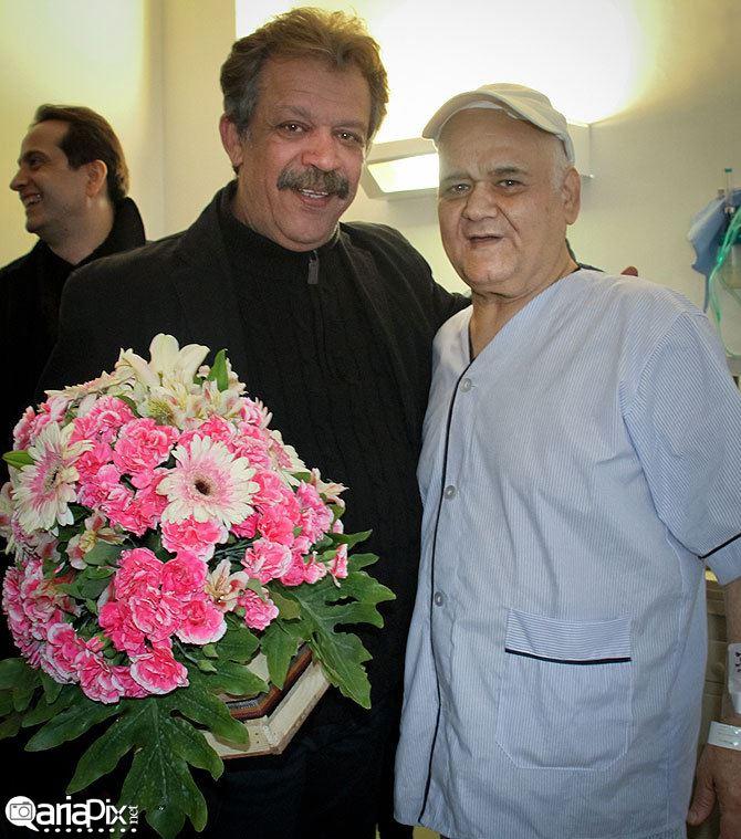 عکسهای عیادت هنرمندان و بازیگران از اکبر عبدی در بیمارستان