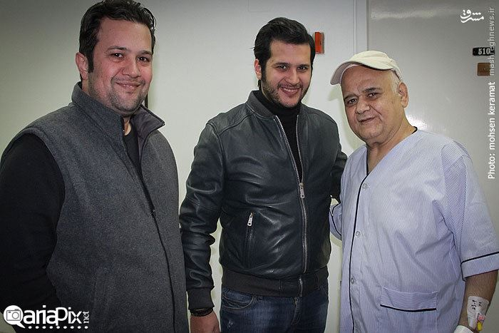 عیادت هنرمندان بازیگران اکبر عبدی