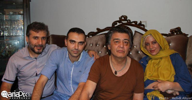 عیادت بازیگران از رضا رویگری