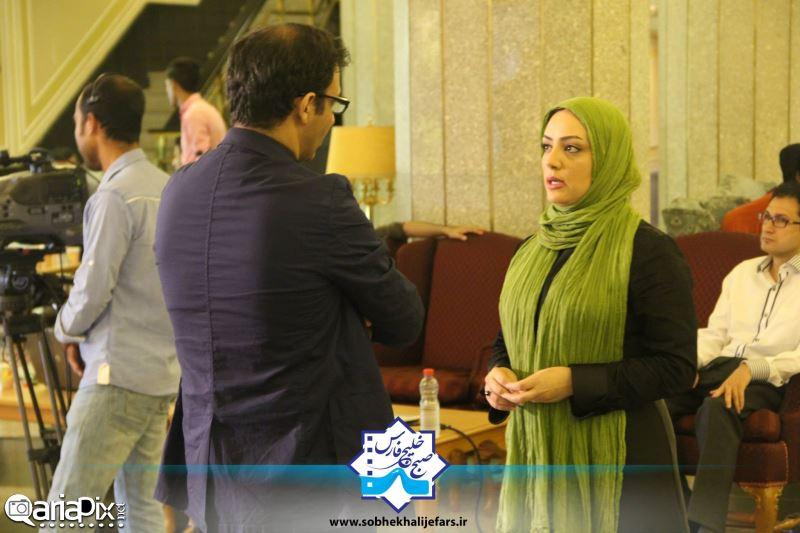 لیلا برخورداری و سیاوش مفیدی در برنامه صبح خلیج فارس