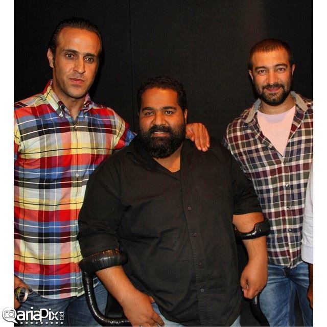 مجید صالحی و علی کریمی و رضا صادقی / عکس مربوط به اکران خصوصی فیلم سینمایی کلاف