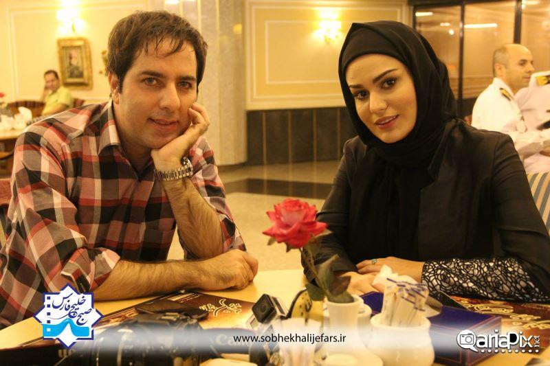 اشکان اشتیاق و رز رضوی در صبح خلیج فارس