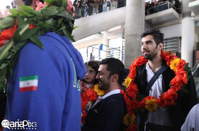 بازگشت والیبالیست های تیم ملی از بازیهایی آسیایی 2014 به وطن