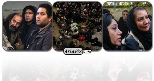 مراسم تشییع جنازه عظیم جوانروح فیلمبردار سینما و تلویزیون