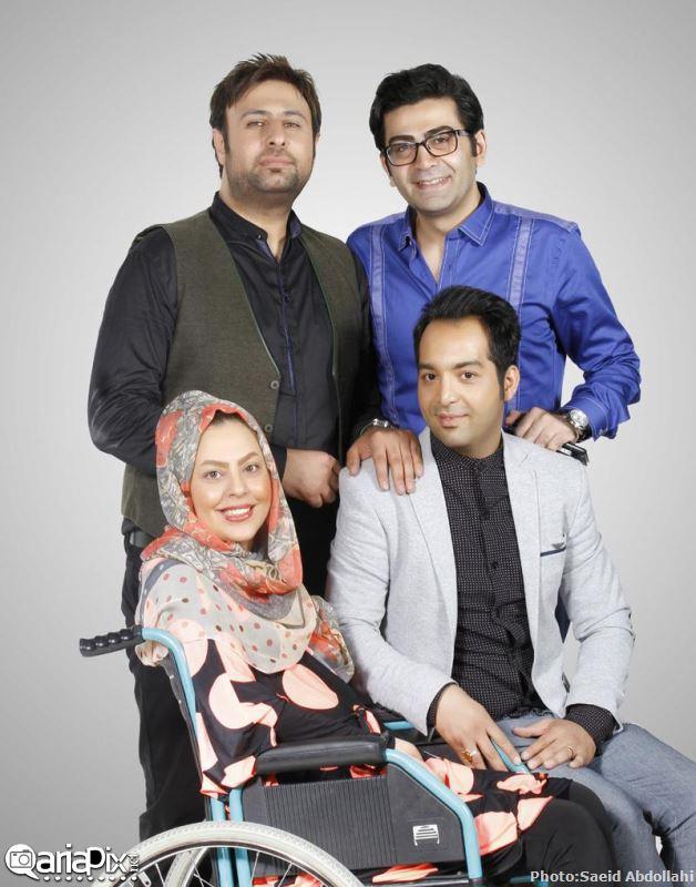 احسان و سولماز (ماه عسل) و فرزاد حسنی در کنسرت محمد علیزاده 93