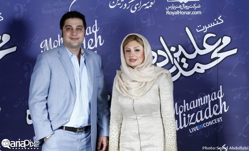 نیوشا ضیغمی و همسرش در کنسرت محمد علیزاده 93