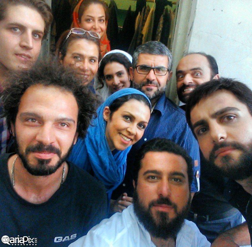 همسر ویشکا آسایش همسر حامد کمیلی پشت صحنه فیلم پشت صحنه سریال بازیگران سریال پرده نشین