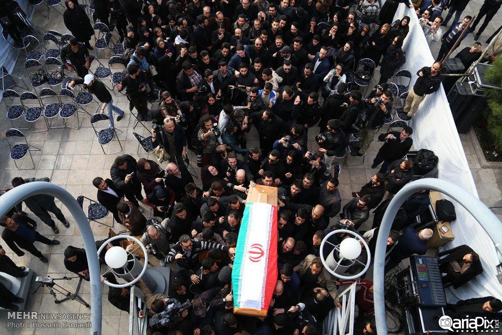 مراسم تشییع جنازه و خاکسپاری مرتضی پاشایی