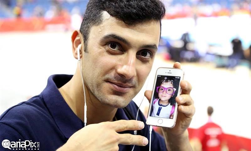 عکس جدید از فرهاد ظریف والیبالیست در مسابقات قهرمانی جهان لهستان