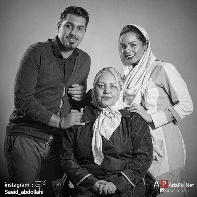 عکس جدید از احسان خواجه امیری و همسرش و مادرش, احسان خواجه امیری و مادرش