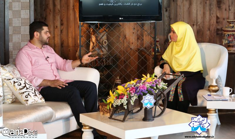 سام درخشانی و سامان جلیلی در برنامه صبح خلیج فارس