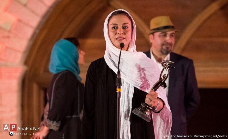 مریلا زارعی برنده جایزه بهترین بازیگر نقش اول زن از هفدهمین جشن خانه سینما