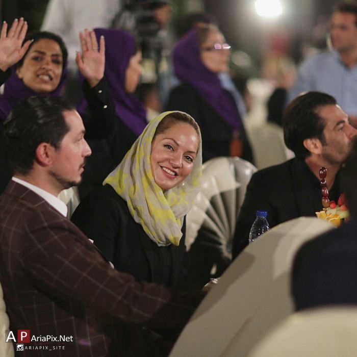مهناز افشار و همسرش محمد یاسین رامین در جشن سینمای ایران / شهریور 94