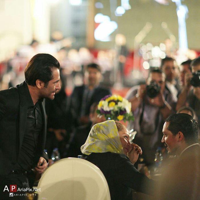 محمدرضا گلزار در مهمانی جشن سینمای ایران