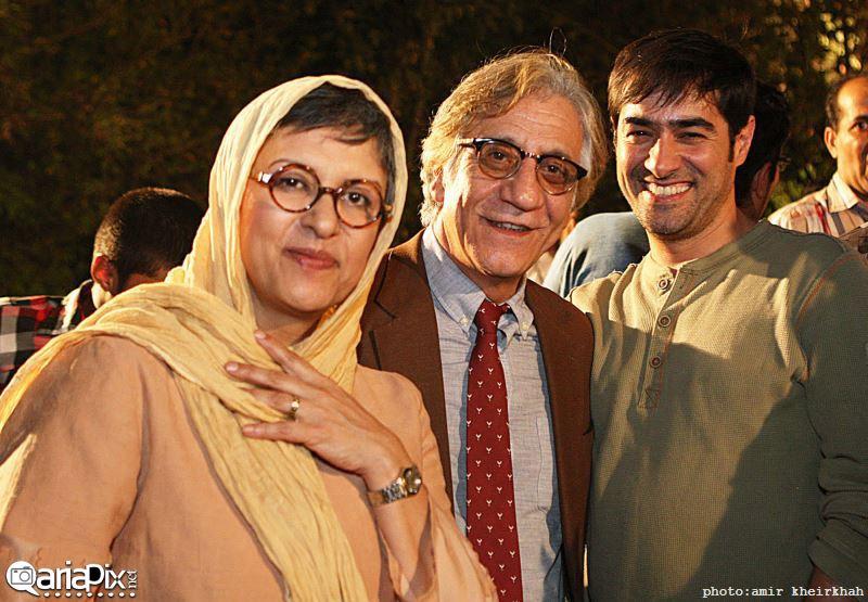 شهاب حسینی و مسعود رایگان و همسرش رویا تیموریان در مراسم ضیافت سریال شهرزاد
