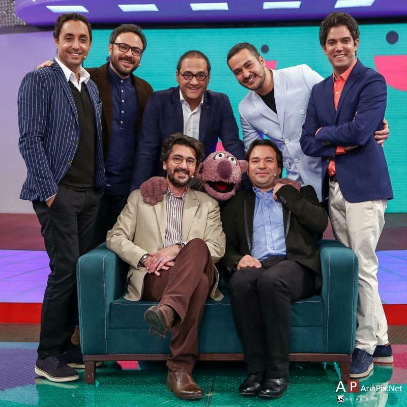بازیگران و هنرمندان در برنامه خندوانه 95