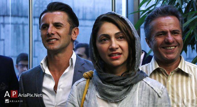 امین حیایی و همسرش در اکران خصوصی فیلم ناردون