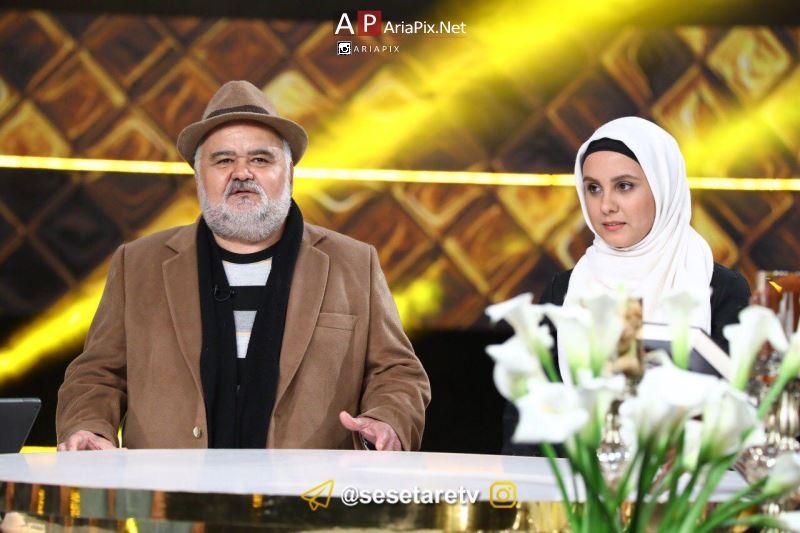 اکبر عبدی و دخترش المیرا عبدی در برنامه سال تحویل 96
