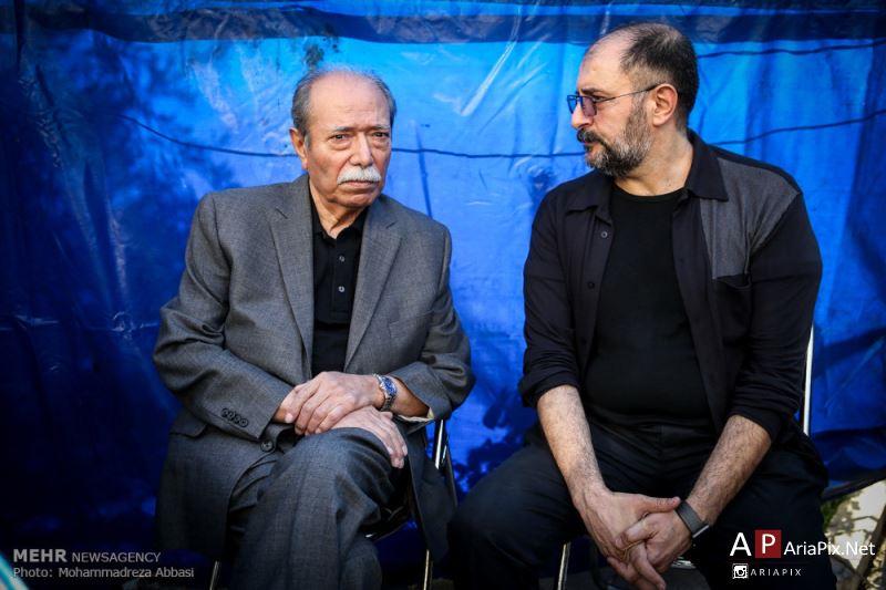 بازیگران و هنرمندان در تشییع جنازه داود رشیدی